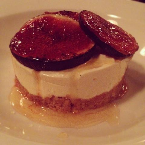 #285 - Fig cheesecake at 10 Greek Street
