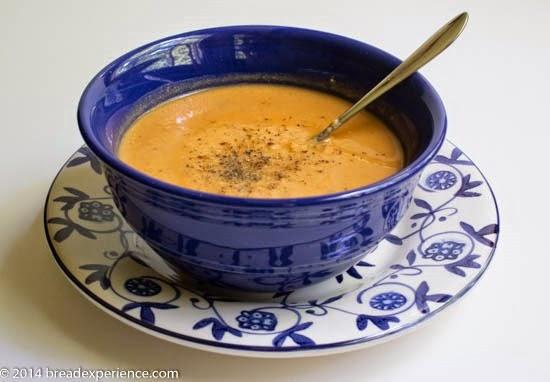 Creamy Tomato Soup with White Beans