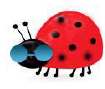 Cute cartoon ladybug