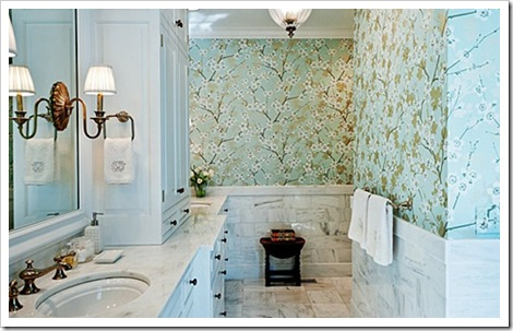 blue-schumacher-wall-covering-paper-powder-room-leland-white-aqua-decorating-ideas-home-decor-pretty-designs