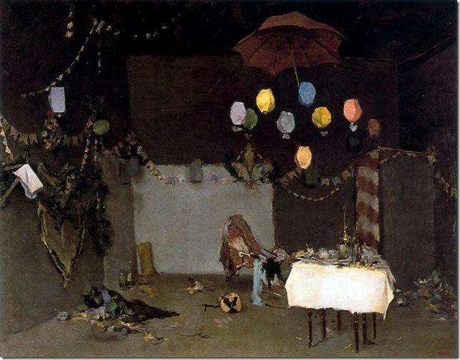 ramon casas i carbo_Interior de taller después de una fiesta_1883