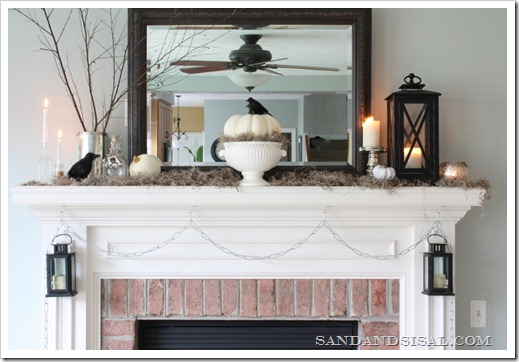 16 DIY Halloween Mantels (Even If You Don't Have A Fireplace)