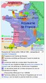 Mapa de fRANÇA entre 1356 e 1363