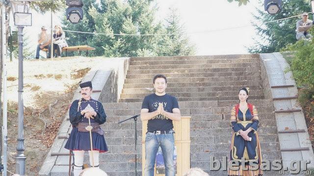 Στην σκηνή του Φεστιβάλ Γευσιγνωσίας που διοργάνωσε ο δήμος Μετσόβου.