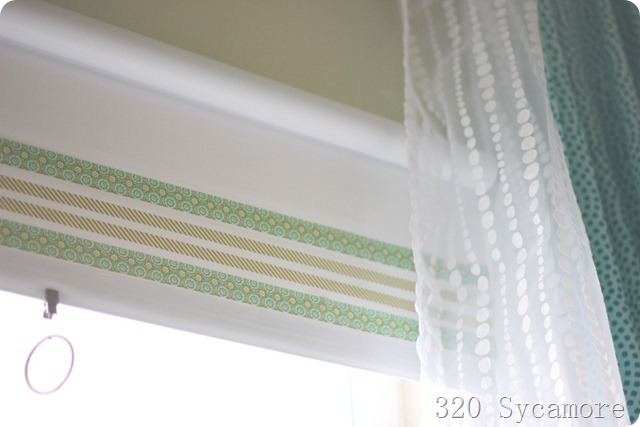 craft tape on roller shades