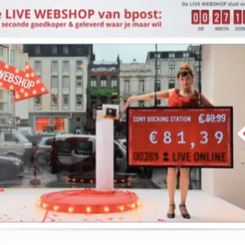 The bpost live webshop
