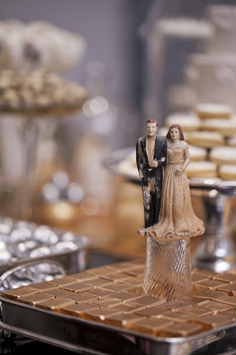 These Paris Caramels from Crossings went perfectly with this cake topper.