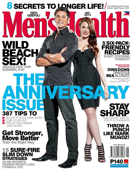 Dingdong Dantes and Bea Alonzo cover Men's Health Ph May 2013 issue