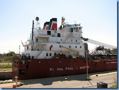 8172 Port Colborne - Lock 8 Gateway Park - RT HON PAUL J MARTIN self unloading lake freighter