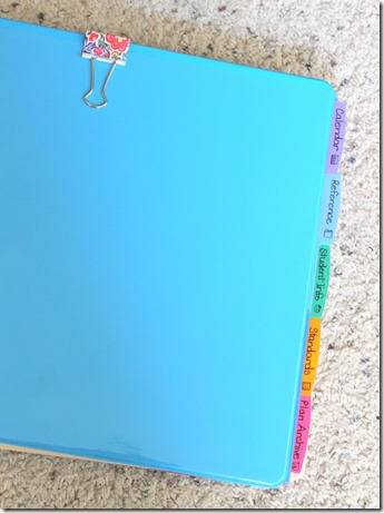 how to create a teacher binder ~ luckeyfrog's lilypad