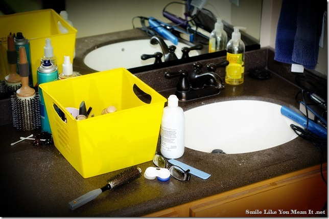 Decluttering the Bathroom Sink - Smile Like You Mean It