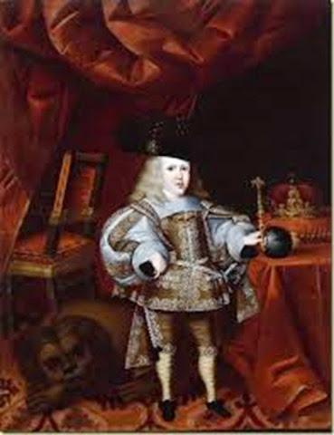 Carlos II de Austria rey de España 1661 a 1700