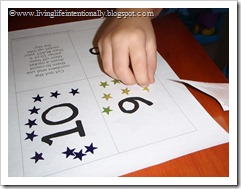 Practice counting with stars