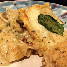Lighter White Sauce Chicken Lasagna