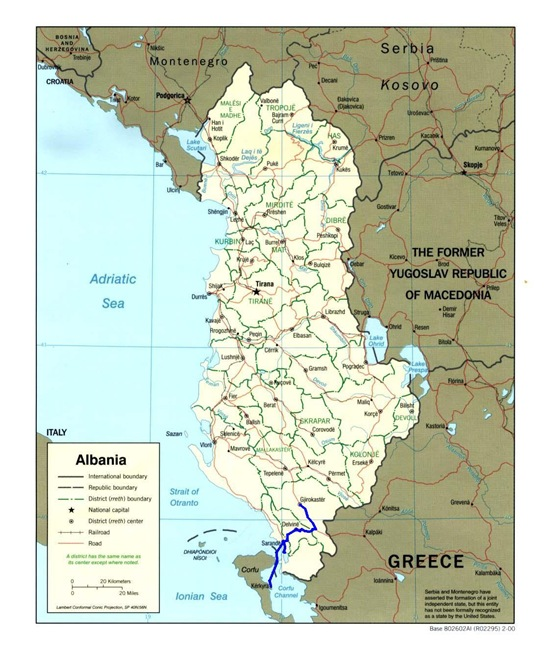 albania route map 2