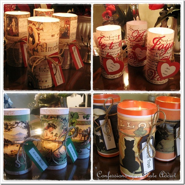 Holiday Candle Sleeves