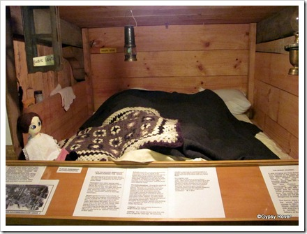 Mock up cabin of an 1800's sailing ship.
