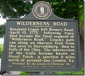 Wilderness Road, Marker 2177 (Side 1) Stanford, KY (Click any photo to enlarge)