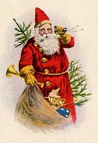christmas santa vintage image graphicsfairy003b