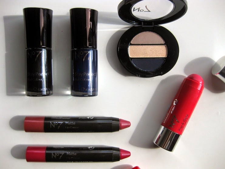 No7-Matte-lip-crayons,blush-stick,black,navy-nailpolish,eye-shadow-trio-no7-new-Autumn-2014