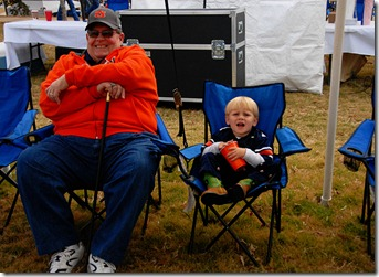 Troy and grandy at tailgate