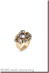 BCBG MULTI-STONE RING 2