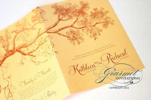 yellow and orange wedding autum wedding invitations fall theme wedding