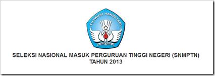 website resmi ptn se indonesia tahun 2013