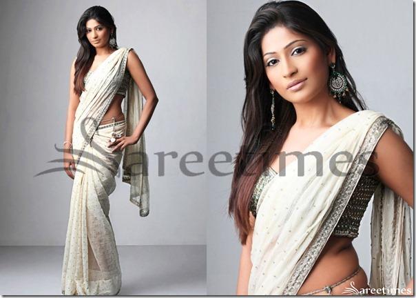 Vijaya_Lakshmi_White_Saree
