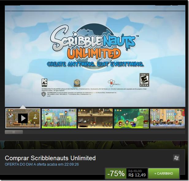 Promoção: Scribblenauts Unlimited na Steam