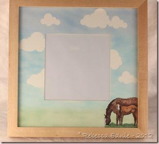 horse gift frame