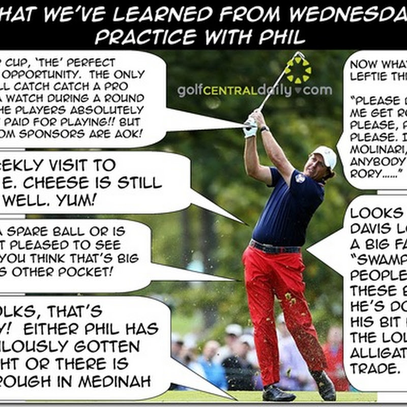 What We've Learned From Phil In Wednesday Ryder Cup Practice