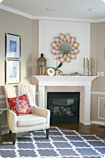 Brighten and lighten family room from thrifty decor chick for Thrifty decor