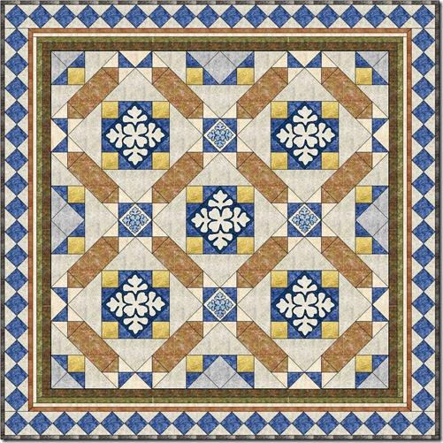 Market Place Mosaic quilt 3