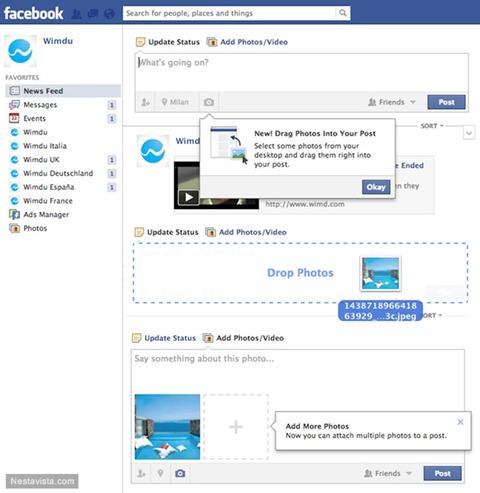Nueva forma de agregar fotos en Facebook