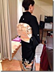 シュシュ美容室に留袖の出張着付け (1)