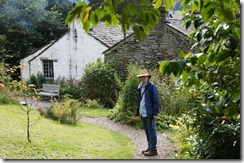 Dove Cottage Mr. M in garden