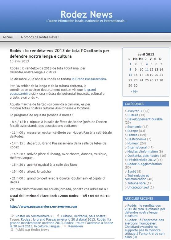 Manifestacion de Rodés Rodez News