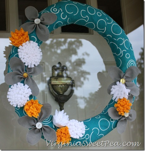 Felt Flower Wreath1