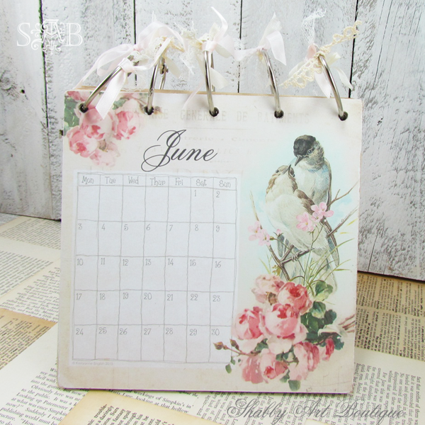 Shabby Art Boutique desk calendar