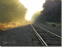 Sunrise Across the Tracks
