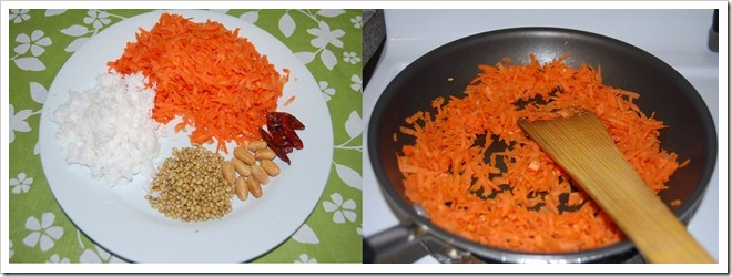 Carrot chutney Process