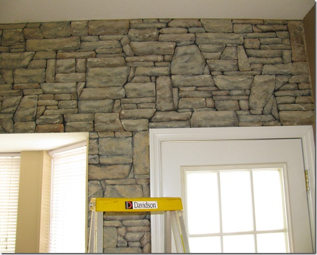 Faux Stone Wall Progress