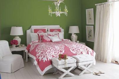 verde com rosa decoracao quarto 1