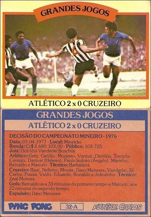 32-A - Atlético 2x0 Cruzeiro