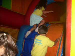 Enjoying the slides at The Jump Around!