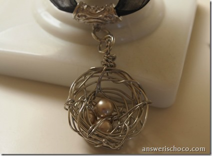 Pearl Birds Nest Pendant