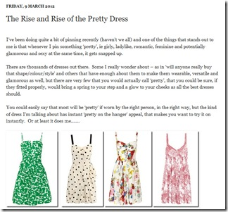 The Rise and Rise of the Pretty Dress