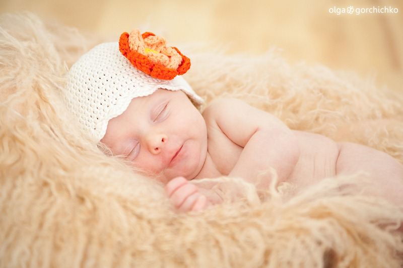 Люба, 12 дней. Фотографирование новорожденных
