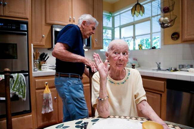 Real meaning of the life partner : Amazing story of a 90-year-old Gina Bonty and his 89-year-old wife, Bobby.